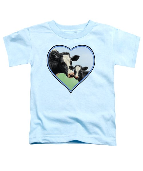 Holstein Cow And Calf Toddler T-Shirt