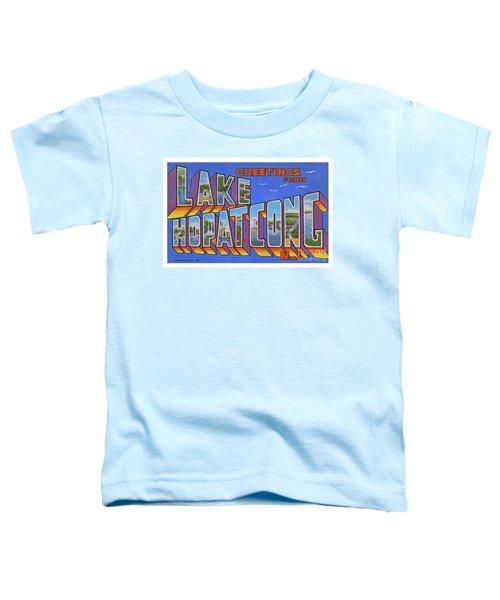 Lake Hopatcong Greetings Toddler T-Shirt