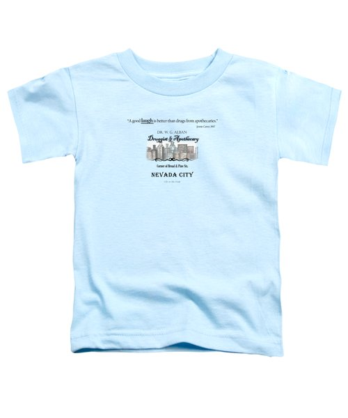 Laughter Is The Best Medicine - Apothecary Toddler T-Shirt