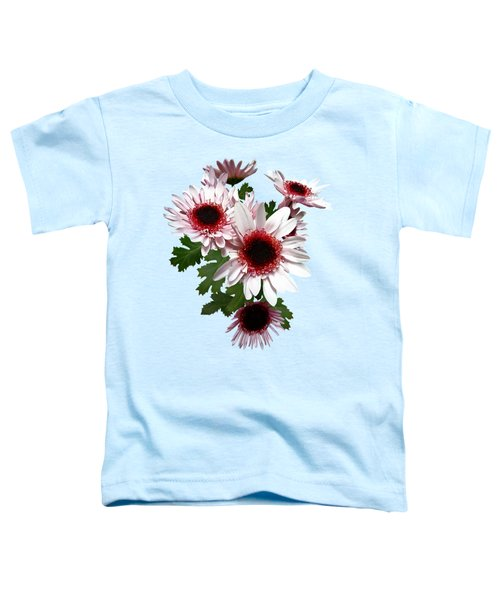 Light Pink Mums With Dark Pink Center Toddler T-Shirt