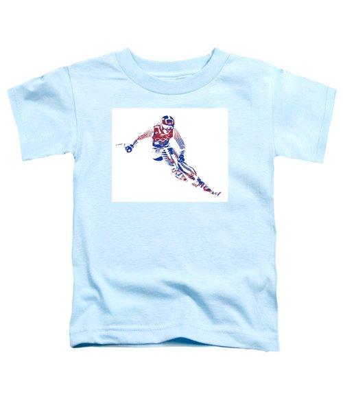 Lindsey Vonn Downhill Racing Pixel Art 3 Toddler T-Shirt
