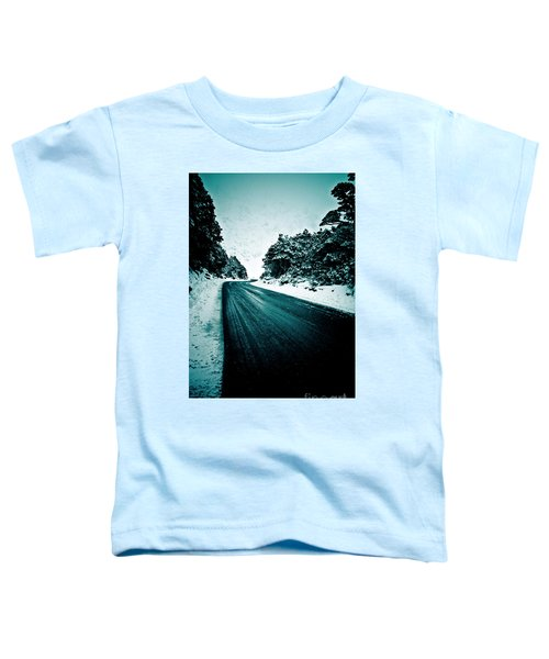 Lonely Road In The Countryside For A Car Trip And Disconnect From Stress Toddler T-Shirt