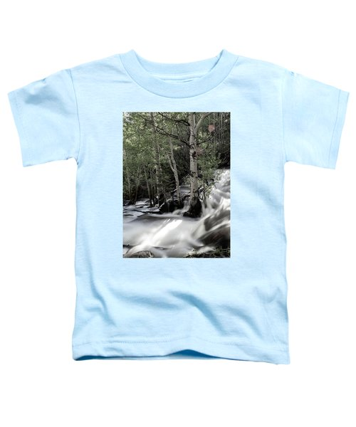 Long Exposure Shot Of A Mountain Stream Toddler T-Shirt