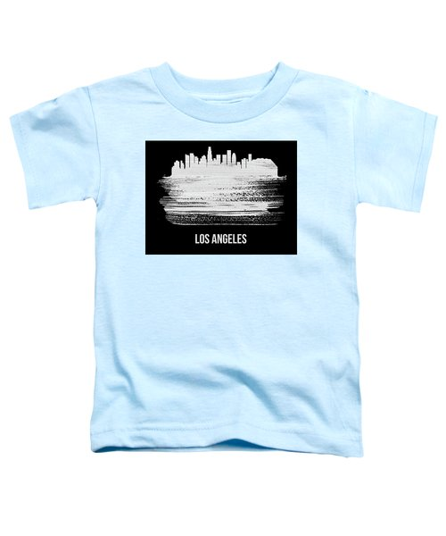 Los Angeles Skyline Brush Stroke White Toddler T-Shirt