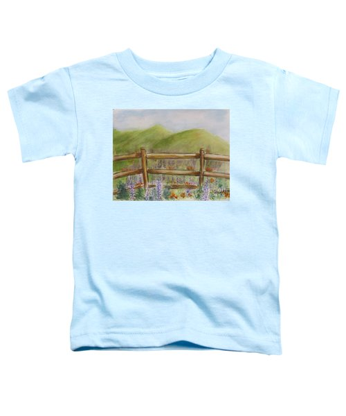 Lupines With A Side Of Poppies Toddler T-Shirt