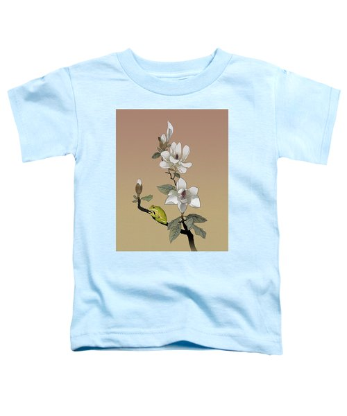 Magnolia And Tree Frog Toddler T-Shirt