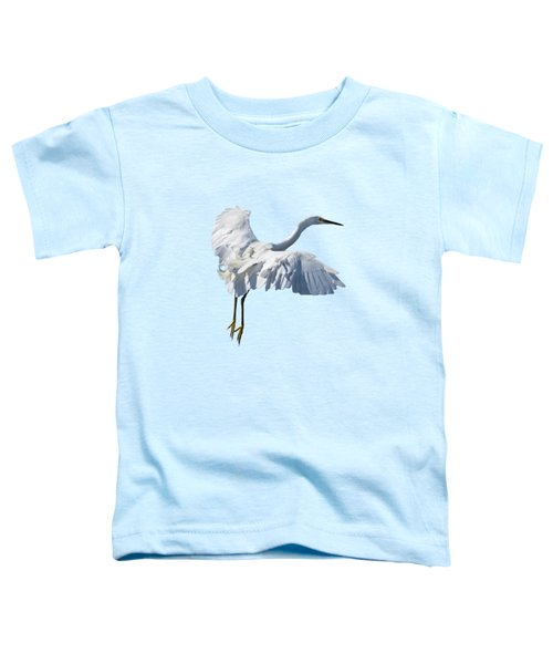 Majestic Looking Snowy Egret Toddler T-Shirt