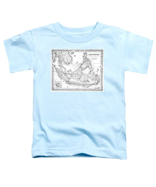 Map Of The East Indies  Engraving Toddler T-Shirt