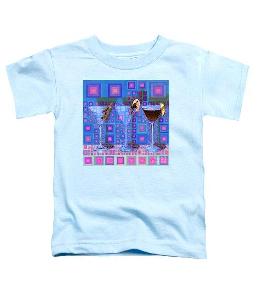 Mid Century Modern Abstract Mcm Three Martinis Shaken Not Stirred 20190127 V2 Square Toddler T-Shirt