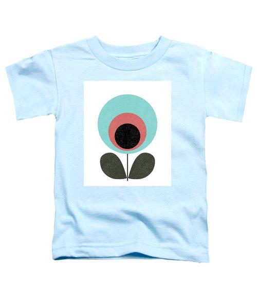 Mid Century Modern Teal Flower II Toddler T-Shirt