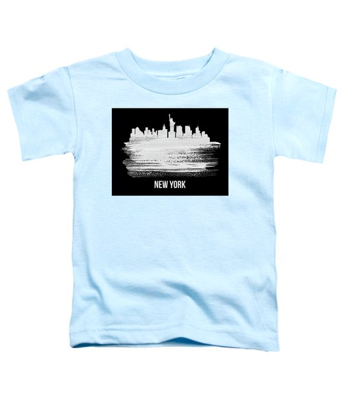 New York Skyline Brush Stroke White Toddler T-Shirt