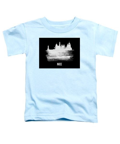Nice Skyline Brush Stroke White Toddler T-Shirt