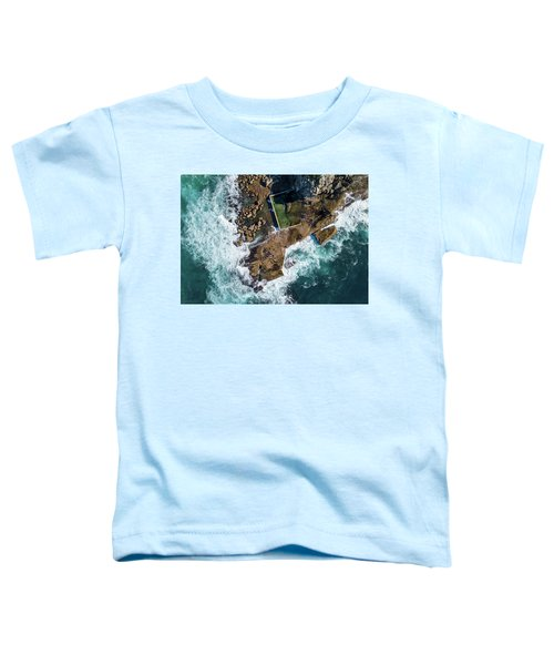 Toddler T-Shirt featuring the pyrography North Curl Curl Pool by Chris Cousins