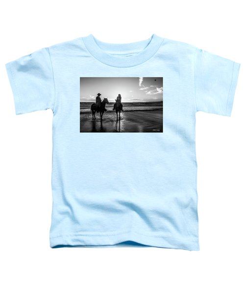 Ocean Sunset On Horseback Toddler T-Shirt
