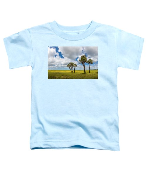Palm Trees In The Field Of Coreopsis Toddler T-Shirt