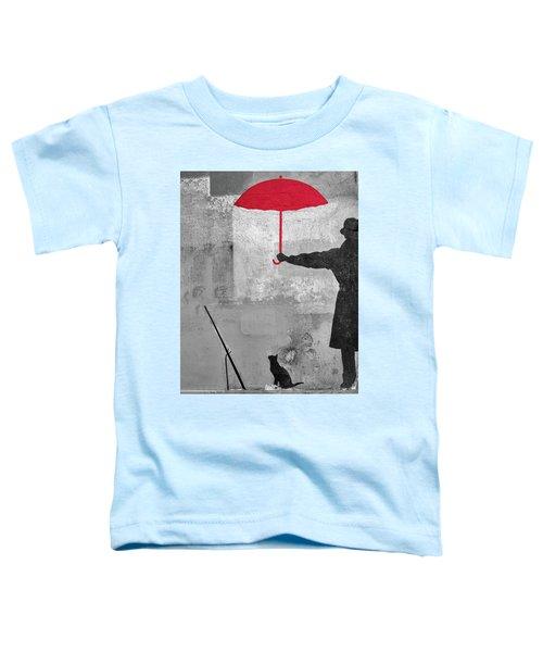 Paris Graffiti Man With Red Umbrella Toddler T-Shirt