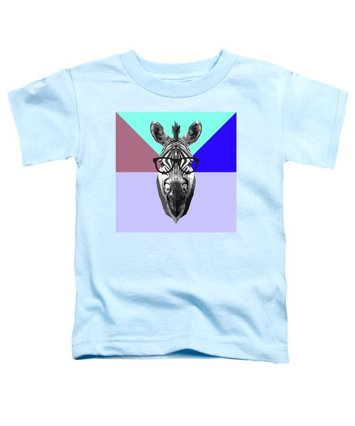 Party Zebra In Glasses Toddler T-Shirt