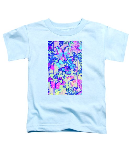 Pastel Wings And Button Butterflies Toddler T-Shirt