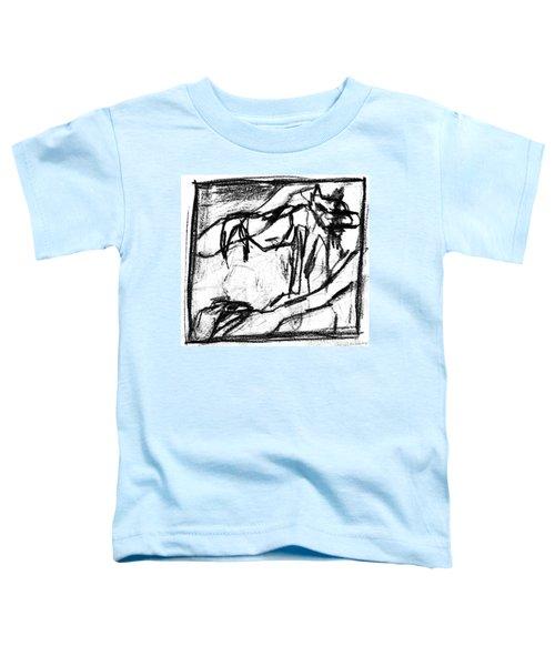 Pencil Squares Black Canine B Toddler T-Shirt