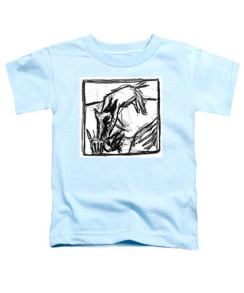 Pencil Squares Black Canine F Toddler T-Shirt