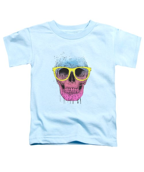 Pop Art Skull With Glasses Toddler T-Shirt