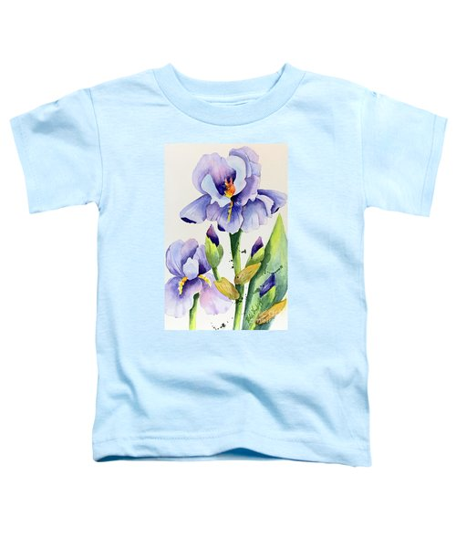 Purple Iris And Buds Toddler T-Shirt