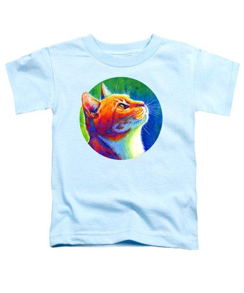 Rainbow Cat Portrait Toddler T-Shirt