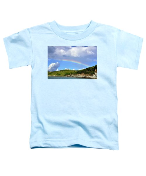 Rainbow Over Buck Island Lighthouse Toddler T-Shirt