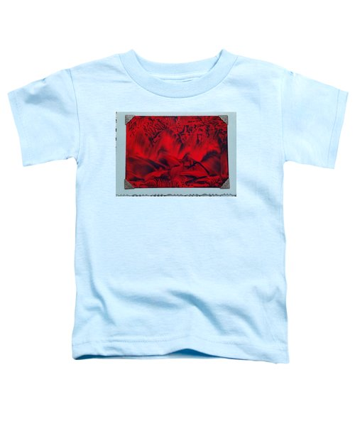 Red And Black Encaustic Abstract Toddler T-Shirt