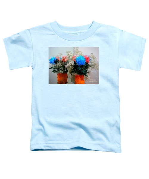 Reflection Of Flowers In The Mirror In Van Gogh Style Toddler T-Shirt