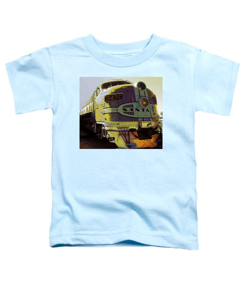 Santa Fe Railroad 347c - Digital Artwork Toddler T-Shirt