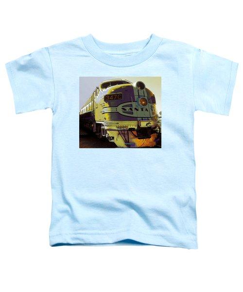 Santa Fe Railroad 347c - Digital Artwork Toddler T-Shirt