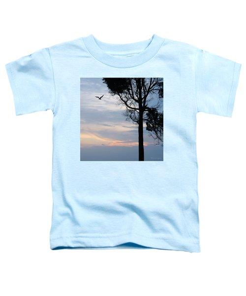 Seagull Sunset At Catawba Toddler T-Shirt
