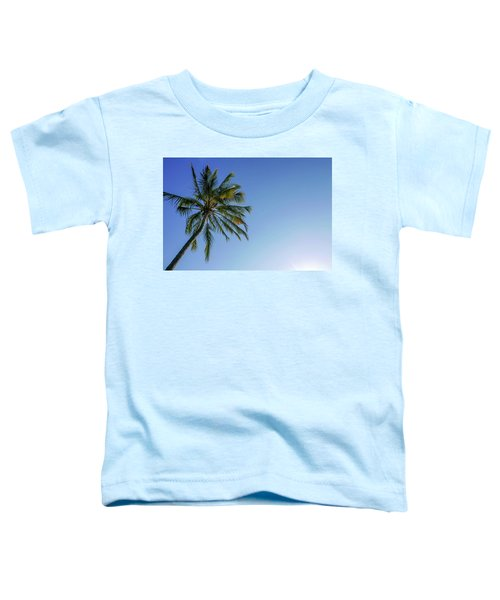 Shades Of Blue And A Palm Tree Toddler T-Shirt
