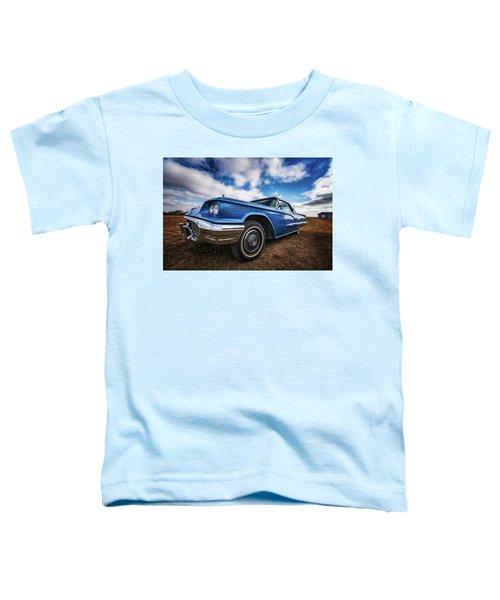 Sky Blue Ford Thunderbird Toddler T-Shirt