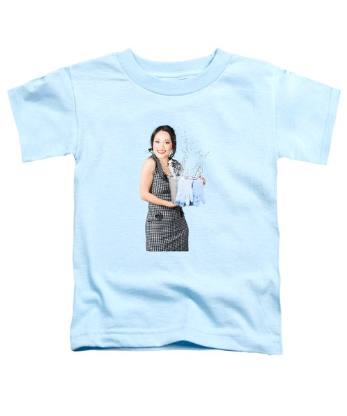 Smiling Female Cleaner Ready To Start Housework Toddler T-Shirt