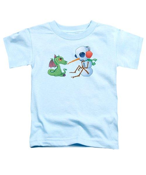Snowman And Dragon Toddler T-Shirt