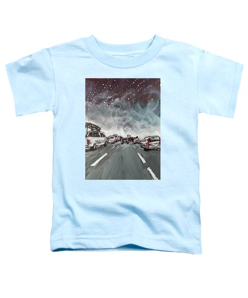 Starry Night Traffic Toddler T-Shirt