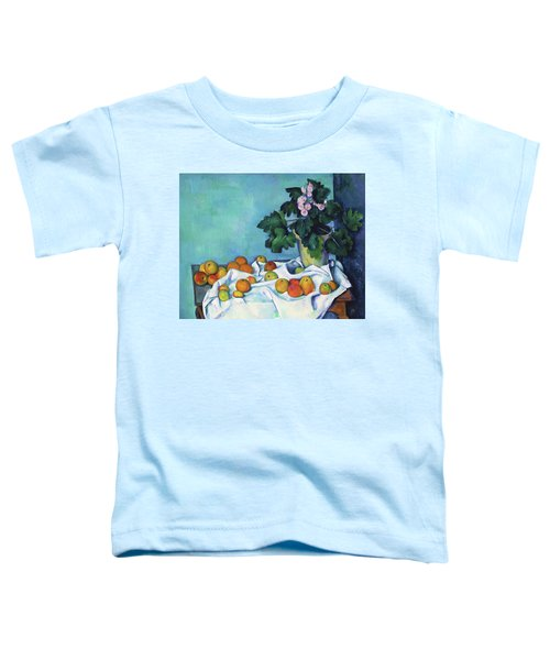 Still Life With Apples And A Pot Of Primroses - Digital Remastered Edition Toddler T-Shirt