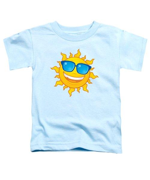Summer Sun Wearing Sunglasses Toddler T-Shirt