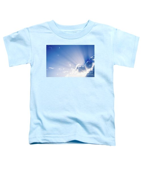 Sunbeams Rising From A Large Cloud In Intense Blue Sky On A Summer Afternoon Toddler T-Shirt