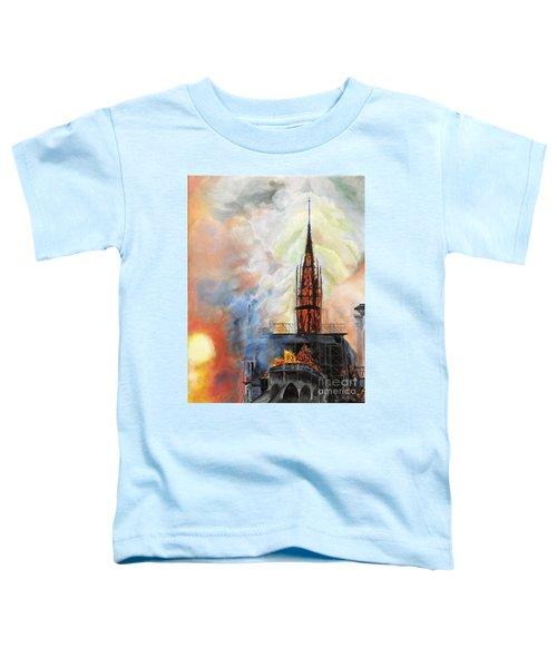 Sunset On Notre Dame Toddler T-Shirt