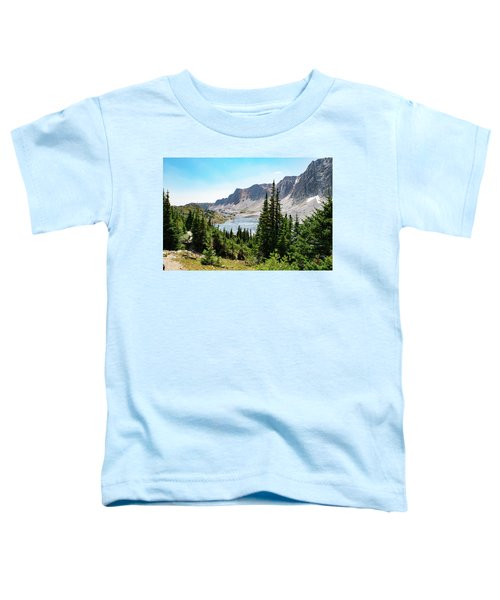 The Lakes Of Medicine Bow Peak Toddler T-Shirt