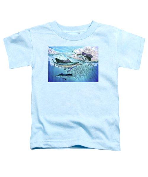 Three Sailfish And Bait Ball Toddler T-Shirt
