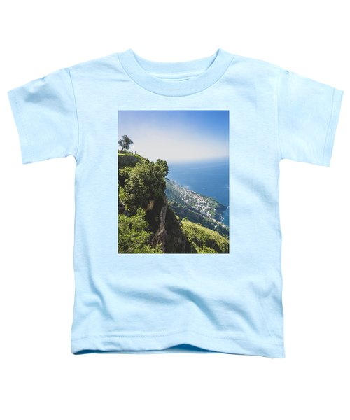 View Of Amalfi Italy From Path Of The Gods Toddler T-Shirt