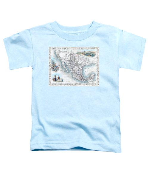 Vingage Map Of Texas, California And Mexico Toddler T-Shirt