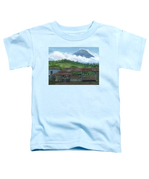 Volcano Agua, Guatemala, With Fruit Stand Toddler T-Shirt