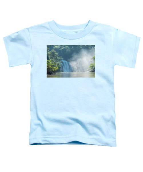 Waterfall, Sunlight And Mist Toddler T-Shirt