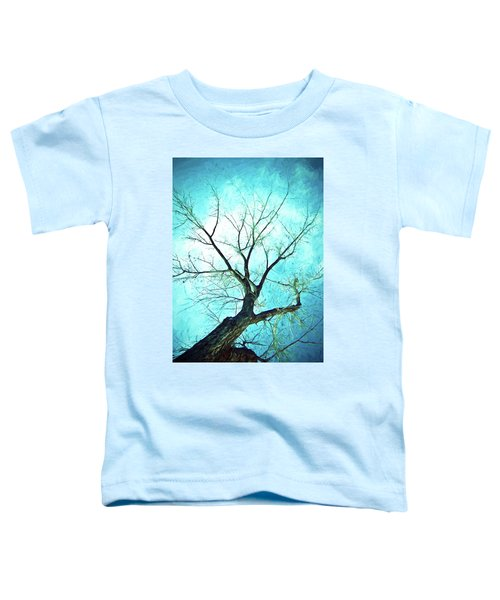 Toddler T-Shirt featuring the photograph Winter Tree Blue  by James BO Insogna