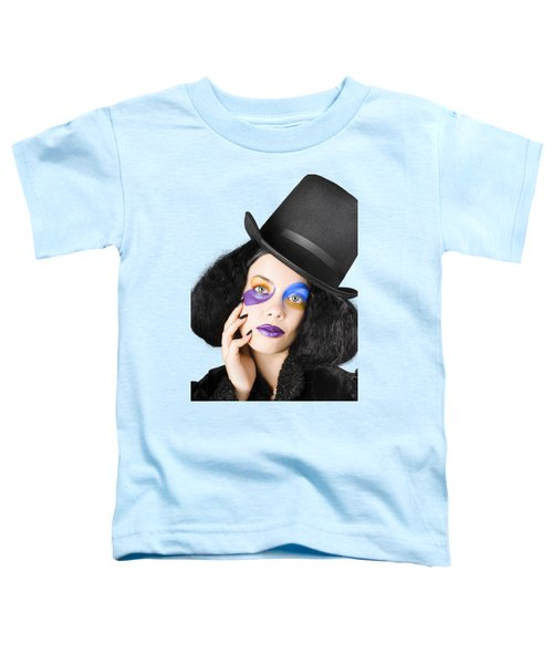 Woman Dressed As Jester Toddler T-Shirt